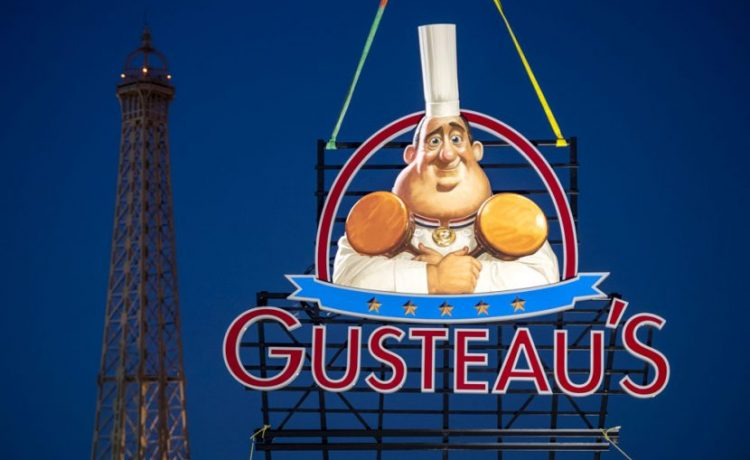 NEW SIGN FOR GUSTEAU'S RESTAURANT – JUST INSTALLED IN THE FRANCE PAVILION AT EPCOT